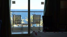 Balkon z pięknymi Dennymi widokami zdjęcie wideo