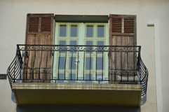 Balkon z wyginającym się poręczem Obraz Stock