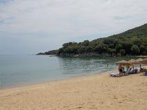Balkonaki海滩,希腊 免版税库存图片