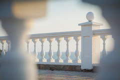 Balkonansicht über das Meer Stockbild