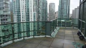 Balkonansicht des Vancouver-Kohlen-Hafens Lizenzfreie Stockfotografie