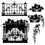 Balkonbloemen Royalty-vrije Stock Foto
