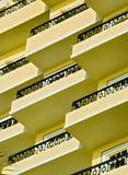 Balkone Stockfoto