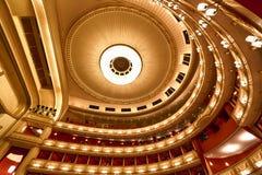 Balkone des Wien-Opernhauses Stockfoto