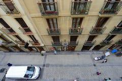 Balkone von San Sebastián Stockbilder