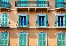 Balkone, Windows und Türen Lizenzfreie Stockfotos