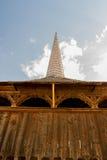 Balkong av en kyrklig ingång Arkivfoto