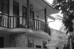 Balkong av ett maldivian hus fotografering för bildbyråer