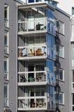 Balkong av härliga moderna lägenheter i Sverige Royaltyfri Fotografi