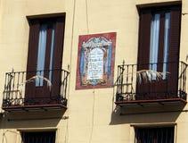Balkong centrala Madrid royaltyfria bilder
