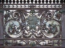 Balkong för Wrought järn Arkivbild