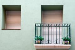 balkong figueres två vases Royaltyfri Bild