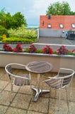 Balkong i ett hotell med sikt Royaltyfri Foto