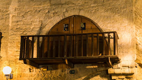Balkong i gamla Jaffa israel Fotografering för Bildbyråer