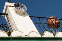 Balkong i Granada Spanien royaltyfri bild