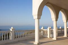 Balkong i Grekland Arkivbild