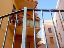 Balkong i Italien Arkivfoto