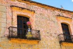 Balkong i Oaxaca Arkivfoton