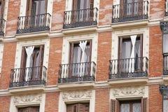 Balkong Madrid royaltyfri foto