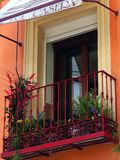 Balkong Madrid Arkivbilder
