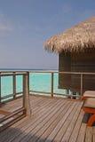 Balkong med sikten av ett paradis Arkivbilder