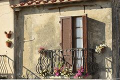 Balkong på Capoliveri, Elba Royaltyfri Fotografi