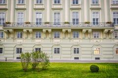 Balkong på den Hofburg slotten i Wien Fotografering för Bildbyråer