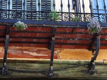 Balkong Segovia Royaltyfri Fotografi