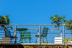 Balkong - stadsliv Arkivfoton