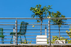 Balkong - stadsliv Arkivbilder