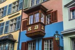 Balkong Zurich Arkivfoto