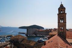 balkongdörrpoggioreale fördärvar croatia dubrovnik gammal town Balkans Adriatiskt hav, Europa Royaltyfria Bilder