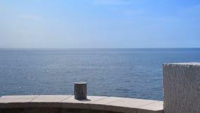 balkongen, havet i bakgrunden arkivfilmer
