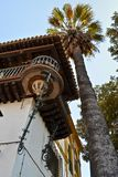 Balkongen i Seville, Spanien, som inspirerade operabarberaren av royaltyfri fotografi