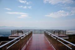 Balkongen ser sikt på Meamoh parkera, Thailand Arkivbilder