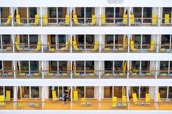 Balkonger av AIDAluna Arkivfoton