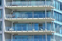 Balkonger av ferielägenheter Royaltyfri Foto