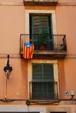 balkonger barcelona Royaltyfri Fotografi