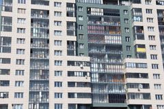 Balkonger fönster, golv. Royaltyfri Fotografi