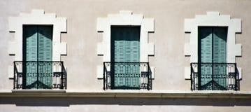 Balkonger och balustrader royaltyfri foto