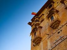 Jaisalmer balkonger royaltyfri foto