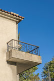 Balkonghus för gammal stil Arkivfoto