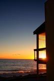 balkongsolnedgång fotografering för bildbyråer