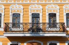Balkonhaus, Besteigungs-David-` s verlässt - männliches Kloster, Moskau-Region, Russland Lizenzfreie Stockfotos