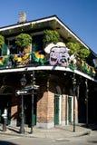 balkonowa bourbonu gras mardi ulica Obraz Stock