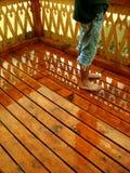 balkonowe nogi Obraz Royalty Free