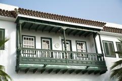 balkonowy drewna Fotografia Stock