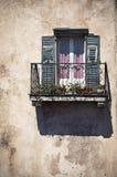 Balkonowy okno Zdjęcia Royalty Free