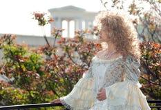 balkonowy przyrodni długości portreta princess Obrazy Stock