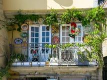 Balkonowy Ribeira w Porto, Portugalia Obrazy Royalty Free
